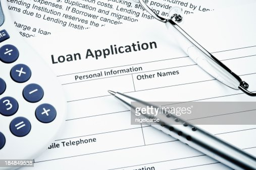 Loan Application form Close-up