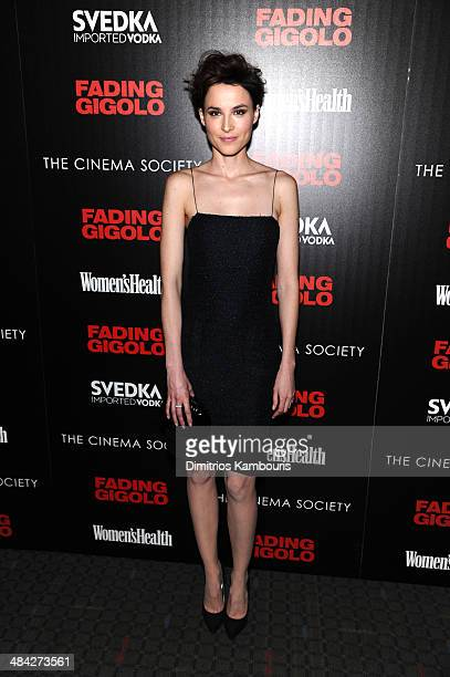 Loan Chabanol attends The Cinema Society Women's Health screening of Millennium Entertainment's 'Fading Gigolo'at SVA Theater on April 11 2014 in New...