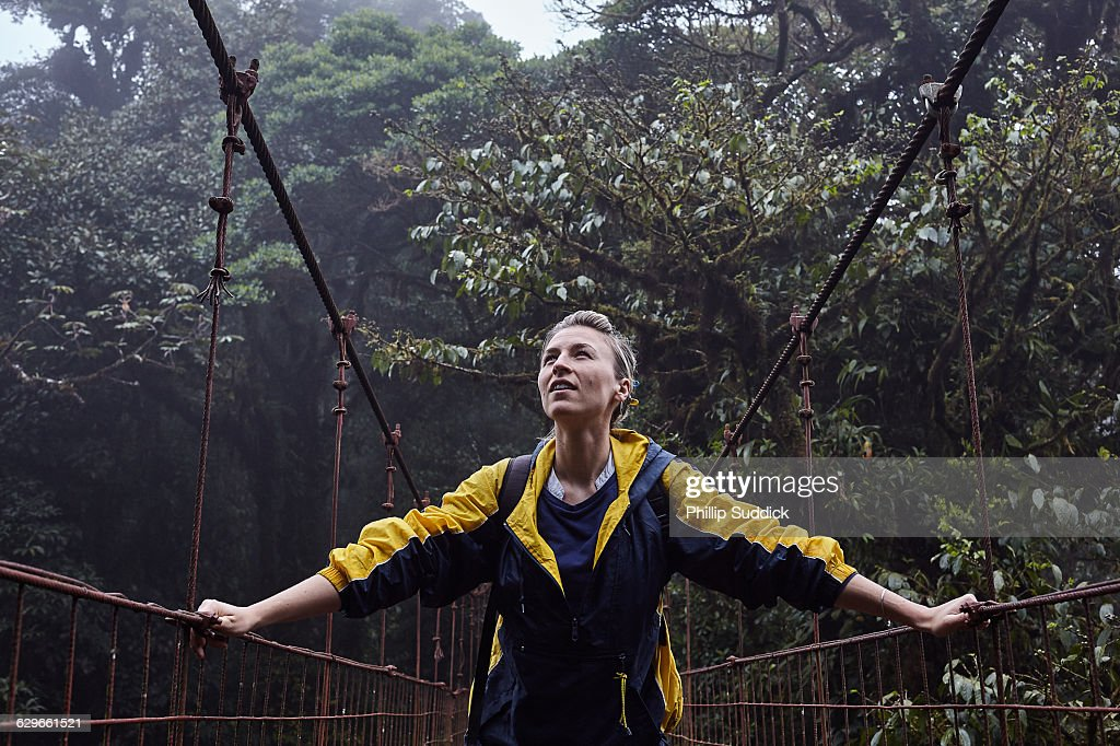 Loan Female Traveller Walking Exploring Nature : Stock Photo