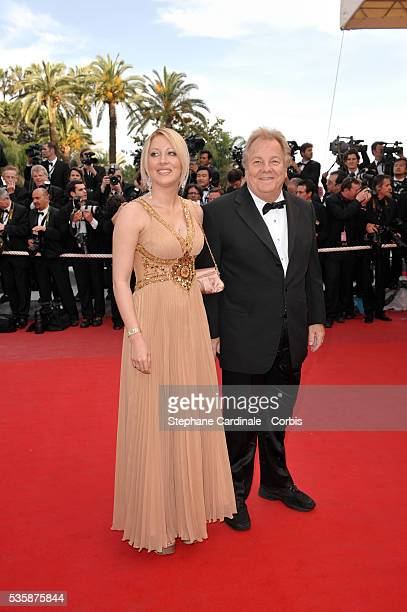 Loana and Massimo Gargia attend the premiere of 'Vengeance' during the 62nd Cannes Film Festival