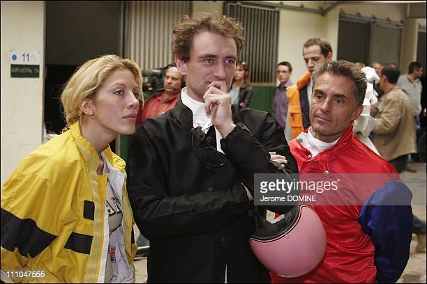 Loana Jean Paul Rouve and Gerard Holtz at the 12th EPONA Festival film festival of the horse on television in Cabourg France On October 08th 2005