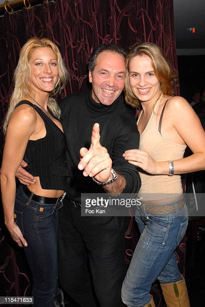 Loana Luigi and a guest during ''Le Scaphandre et le Papillon'' End of Shooting Party at Mandala Ray in Paris France