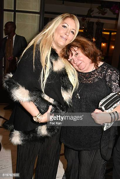 Loana Petrucciani and her mother Violette attend 'Guitar Tribute' by Golden disc awarded Jean Pierre Danel at Hotel Burgundy on April 7 2015 in Paris...