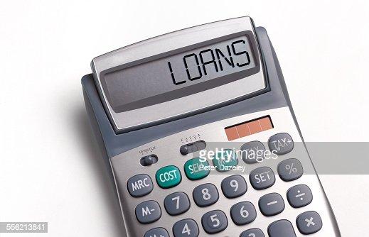 Loans written on a calculator