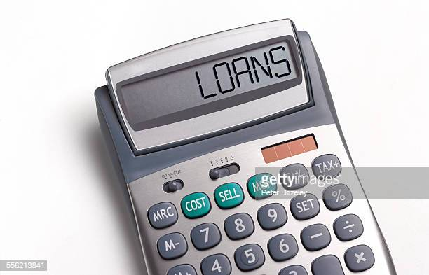 Loans written on a calculator