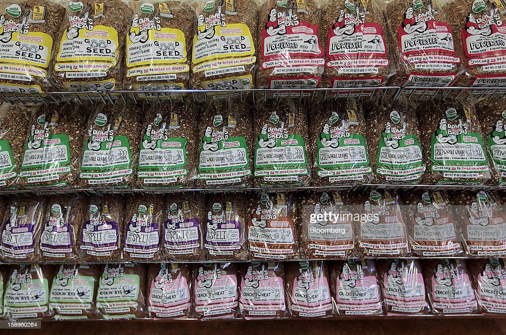 Loaves of Dave's Killer Bread are displayed for sale at the company's shop in Milwaukie, Oregon, U.S., on Friday, Jan. 4, 2013. Goode Partners, a private equity firm specializing in growth investments in the branded consumer products sectors, has purchased a fifty percent stake in Dave's Killer Bread which will help the company expand into new markets around the country. Photographer: Natalie Behring/Bloomberg via Getty Images