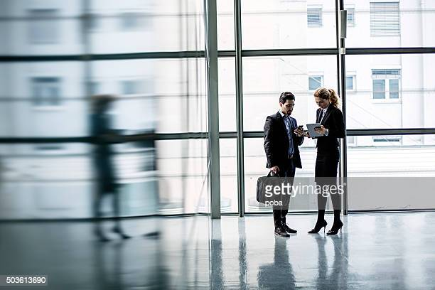lobby business meeting