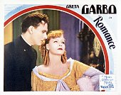 A lobby card for Clarence Brown's 1930 drama 'Romance' featuring Greta Garbo and leading man Gavin Gordon