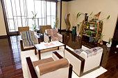 Lobby in Japanese hotel