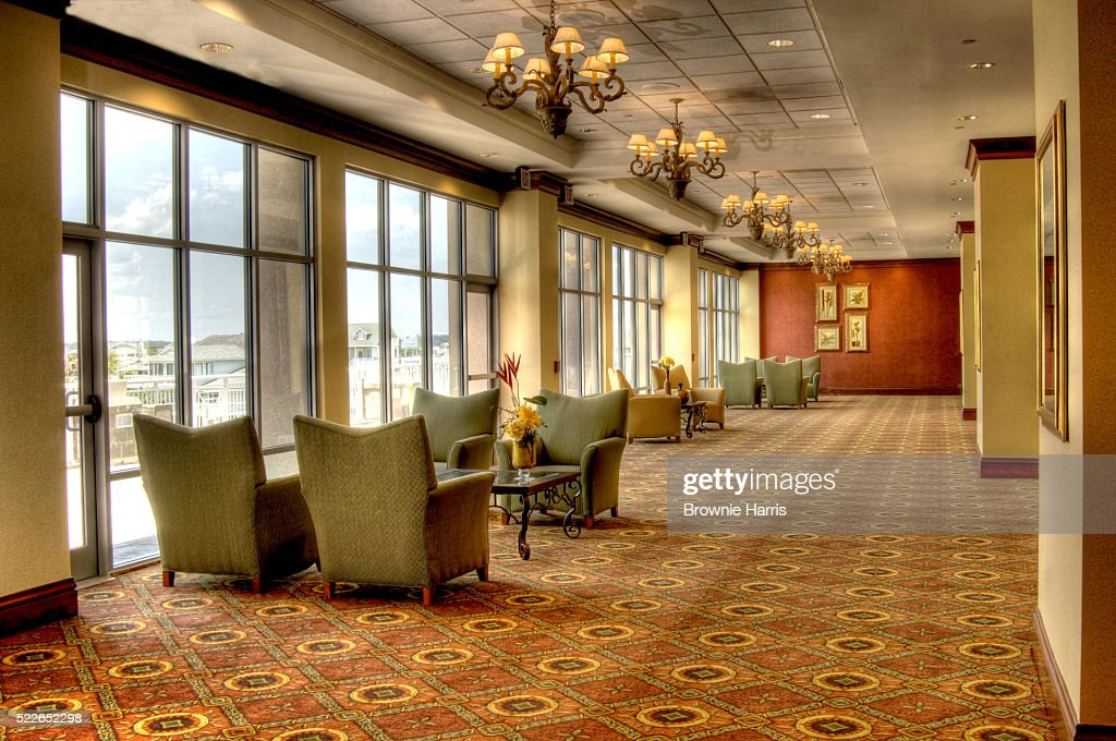 Lobby leading to the ballroom of the Holiday Inn Resort
