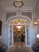Lobby of the Hotel Maria Cristina in San Sebastian is a luxury hotel furnished in belle epoque style which since 1921 has housed historic characters...