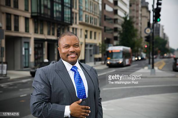Lobbyist Marcus Mason of the Mason Group on August 9 2011at Thomas Circle NW in Washington DC