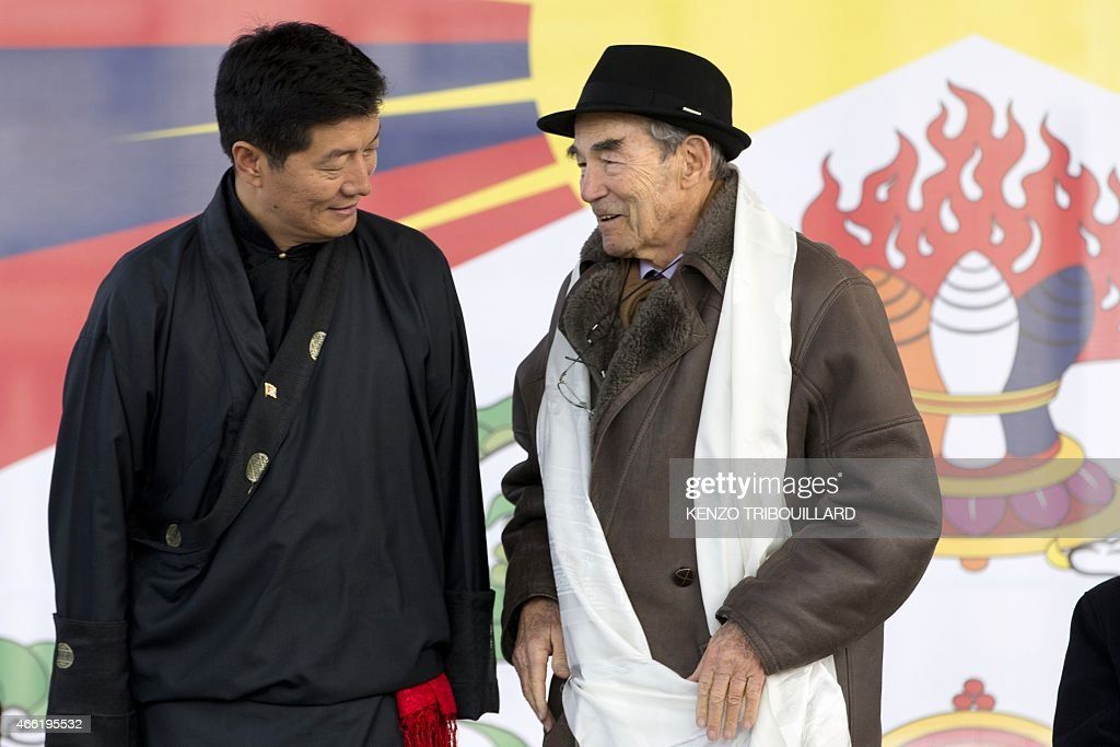 <a gi-track='captionPersonalityLinkClicked' href=/galleries/search?phrase=Lobsang+Sangay&family=editorial&specificpeople=7725923 ng-click='$event.stopPropagation()'>Lobsang Sangay</a> (L), Sikyong (prime minister) of the Tibetan Government-in-Exile speaks with former French Justice Minister <a gi-track='captionPersonalityLinkClicked' href=/galleries/search?phrase=Robert+Badinter&family=editorial&specificpeople=3466607 ng-click='$event.stopPropagation()'>Robert Badinter</a> during a European rally marking a failed 1959 uprising against China on March 14, 2015 in Paris. That uprising forced the Dalai Lama to flee, and the Tibetan spiritual leader has been living in exile in India ever since. Both the Dalai Lama and the leader of Tibet's exiled government <a gi-track='captionPersonalityLinkClicked' href=/galleries/search?phrase=Lobsang+Sangay&family=editorial&specificpeople=7725923 ng-click='$event.stopPropagation()'>Lobsang Sangay</a> advocate greater autonomy for the Tibetan region within China, but Beijing accuses them of being separatists and wanting flat-out independence.