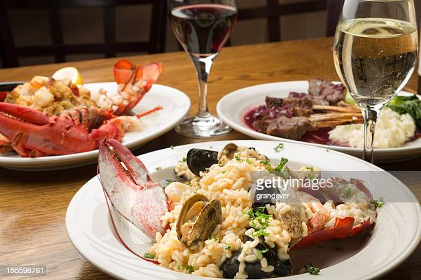 Lobster and Lamb chop Dishes