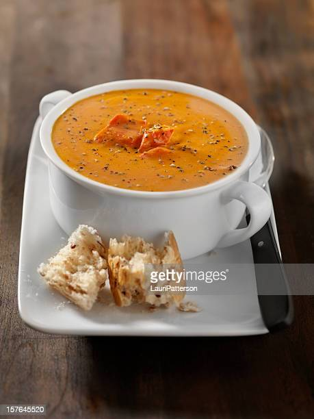 Lobster Bisque with Crusty Bread
