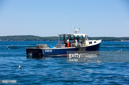 Lobster fishing stock photos and pictures getty images for Lobster fishing in maine