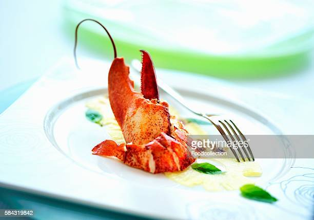 Lobster on pineapple carpaccio