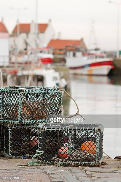 Lobster Pots at Pittenweem Harbour, Fife.