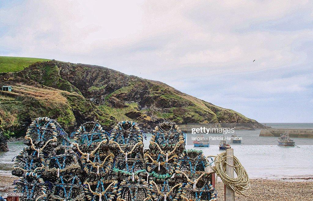 Lobster pots at Port Isaac, Cornwall