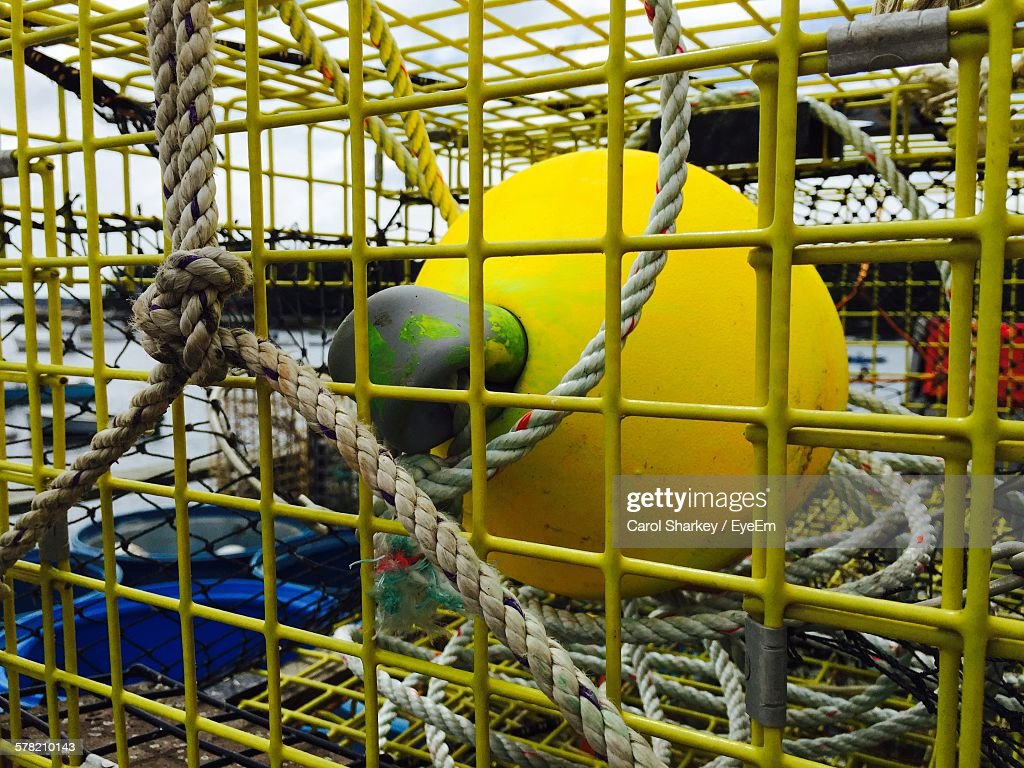 Lobster Trap With Ropes