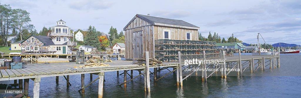 Lobster Village in Autumn Southwest Harbor Stonington Maine