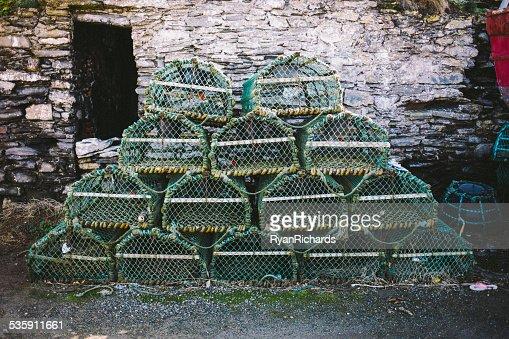 Caranguejo armadilhas de lagosta/líquidos : Foto de stock