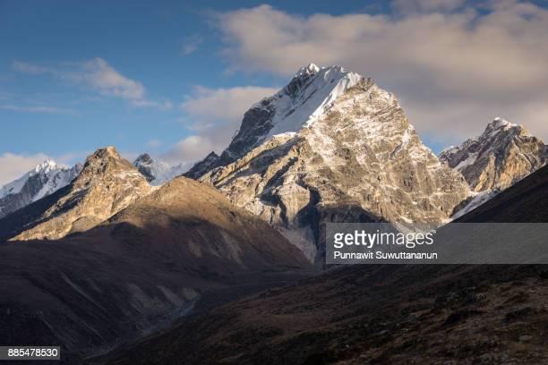 Lobuche mountain peak in a morning, Everest region, Nepal