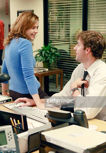 THE OFFICE 'Local Ad' Episode 5 Aired Pictured Jenna Fischer as Pam Beesly and John Krasinski as Jim Halpert