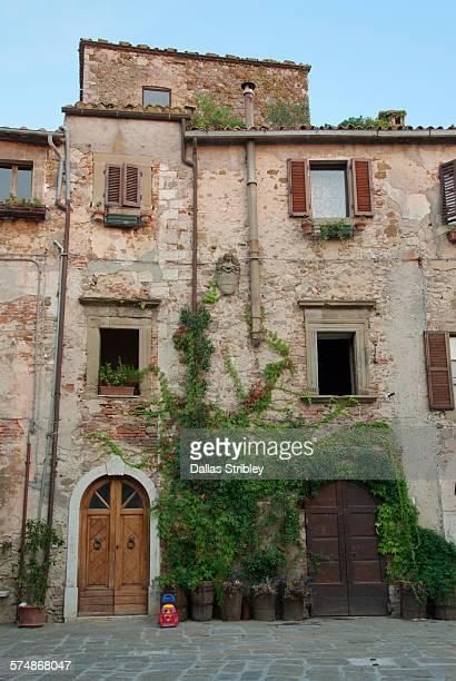 Local architecture in the village of Montemerano