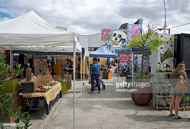 Local art and craft market in innercity Melbourne on a Saturday morning
