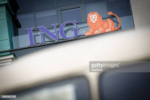 A local branch of the ING bank is seen in the old center of the city on 19 August 2017