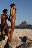 Local Brazilian children playing on Flamengo beach in Rio de Janeiro on July 15 2010 Photo by Lisa Wiltse