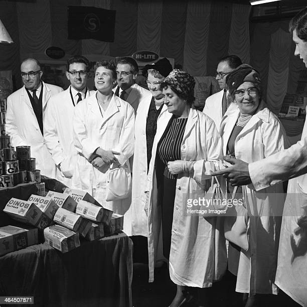 Local dignitaries during an open day at Spillers Foods in Gainsborough Lincolnshire 9th October 1962 The dignitaries have the opportunity to inspect...