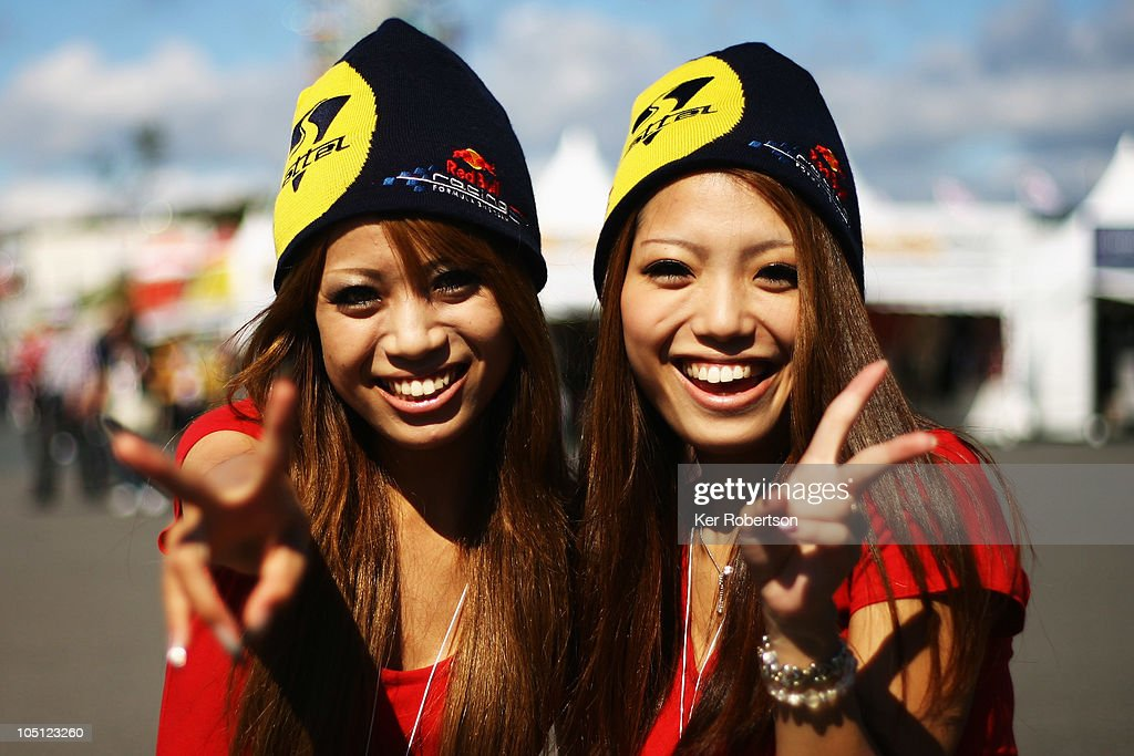 Local fans of Sebastian Vettel of Germany and Red Bull Racing attend qualifying for the Japanese Formula One Grand Prix at Suzuka Circuit on October 10, 2010 in Suzuka, Japan.
