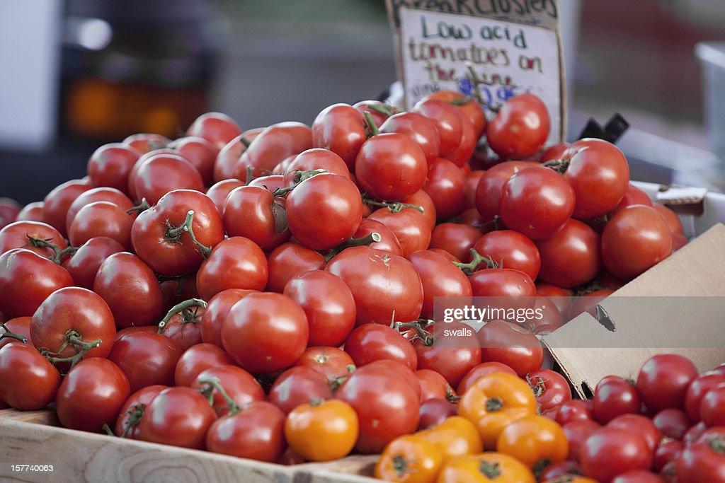 Local Farm Tomatoes : Stock Photo