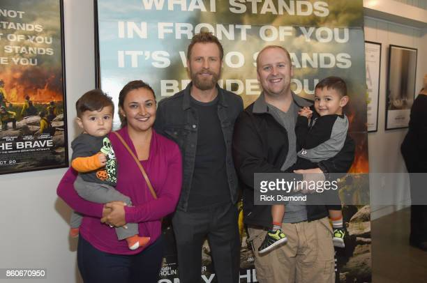 Local first responders and Dierks Bently attend 'Only The Brave' Nashville screening hosted by Dierks Bentley at The Belcourt Theatre on October 12...