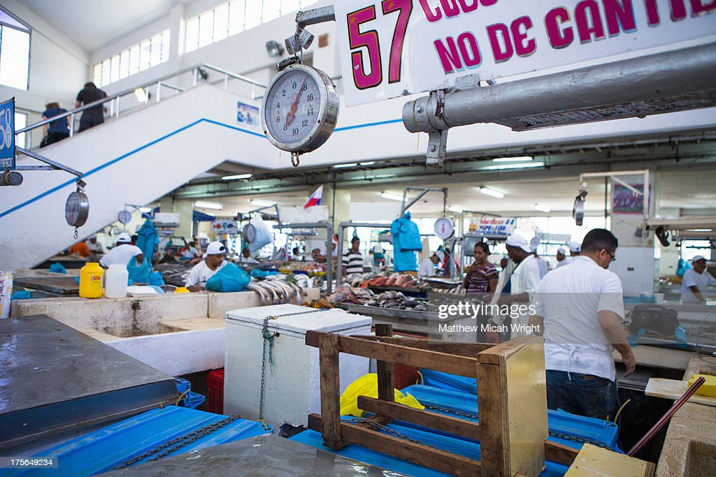 A local fish market in panama city stock photo getty images for City fish market