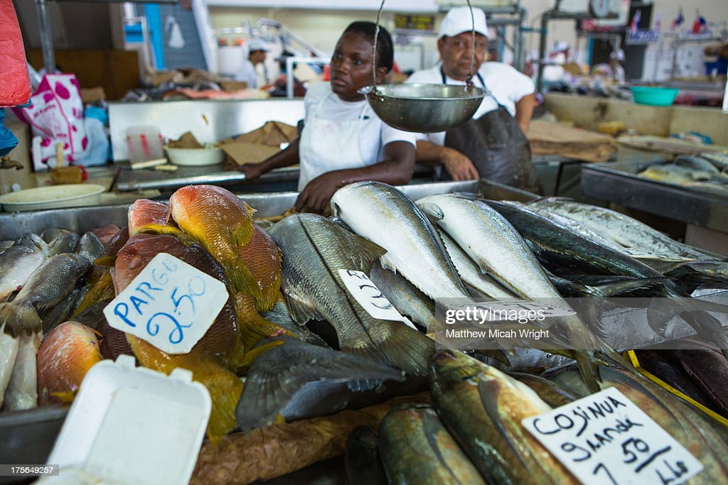 A local fish market in panama city stock photo getty images for Local fish market
