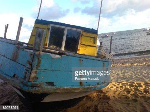 Local fisherman boat : Stock Photo