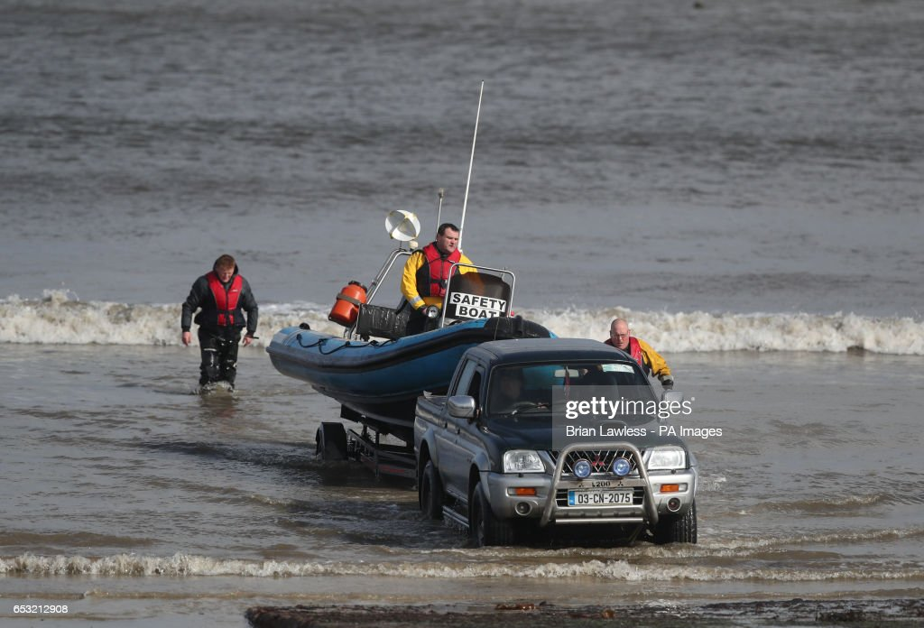 Local fishermen and members of the local community return to Blacksod, Co Mayo, as the search continues for an Irish Coast Guard helicopter which went missing off the west coast of Ireland in the early hours of the morning.