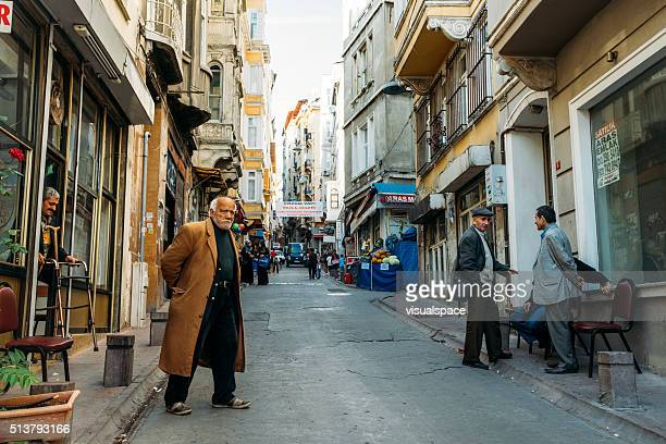 Local men hanging out in Istanbul, Beyoglu district