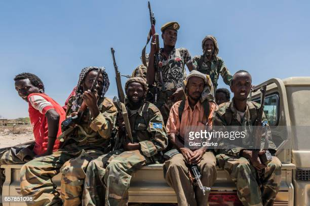 A local militia group who provide security and safe access for humanitarian aid workers in Wajid Bakool Somalia is in the grip of an intense drought...