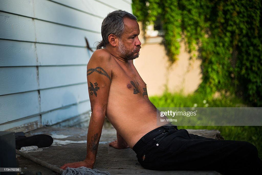 Local resident Jacques Bizier at his home on July 14, 2013 in Lac-Megantic, Quebec, Canada. A train derailed and exploded into a massive fire that flattened dozens of buildings in the town's historic district, leaving 60 people dead or missing in the early morning hours of July 6.