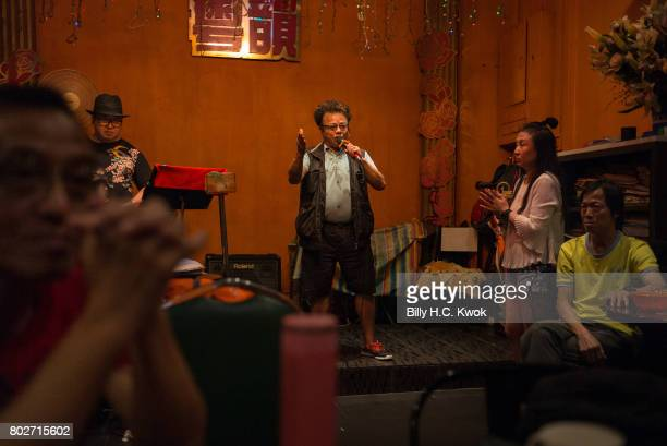 Local residents sing in the Cantonese KTV on May 29 2017 in Hong Kong Hong Kong Hong Kong is marking 20 years since the territory was handed from...