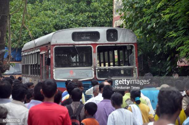 Local residents vandalised the bus and organised a raasta roko at the spot for four hours A Mira Bhayander Municipal Corporation bus ran over...