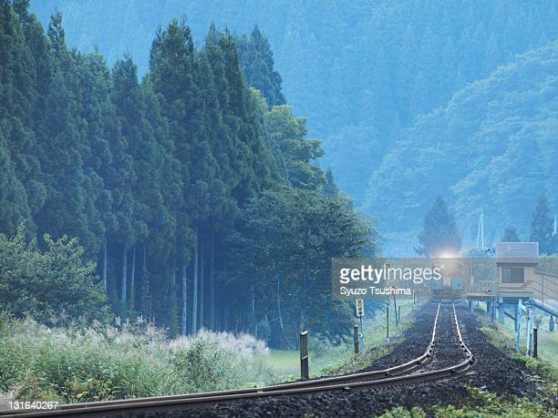 Local train in mountains