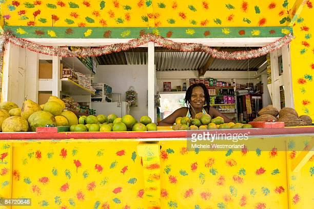 Local vendor, Argyle Falls, Tobago