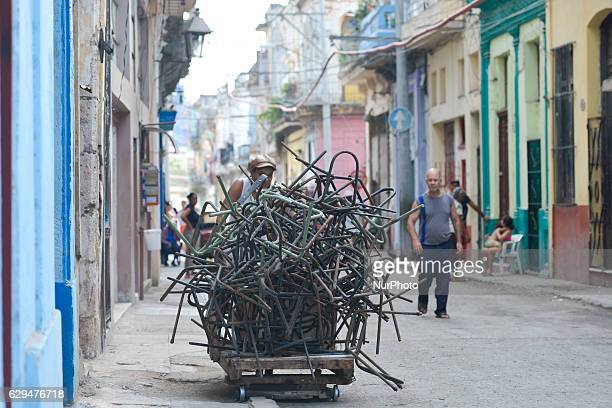 A local woman collects old chair frames in Havana's center Since the 24th May the Cuban Government legalized small and mediumsized private businesses...