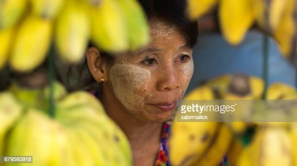Local women of Yangon, Myanmar