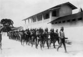 Locally recruited troops under German command in Dar Es Salaam Tanzania circa 1914